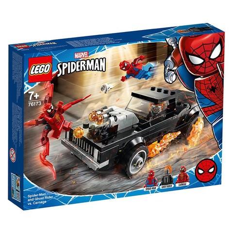 百亿补贴:LEGO 乐高 Marvel 漫威超级英雄系列 76173 蜘蛛侠和恶灵骑士对战屠杀