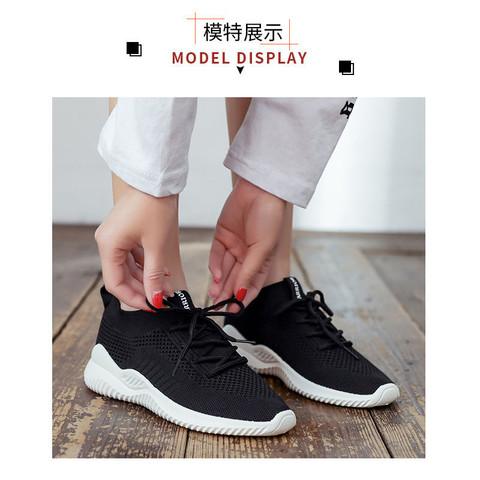 回力女鞋运动跑步鞋休闲透气软底百搭黑色网面鞋轻便一脚蹬懒人鞋