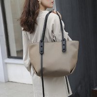 真维斯包包女2021新款简约时尚单肩包托特包大容量学生韩版手提包