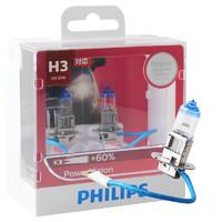 飛利浦(PHILIPS)強極光H3升級型汽車燈泡大燈燈泡2支裝 增亮60%增長25米色溫3250K *3件