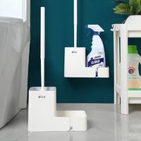 曼达贝亚 马桶刷套装免打孔壁挂式卫生间洁厕刷子 浴室置物架洗厕所刷家用清洁刷架 马桶刷架+刷子