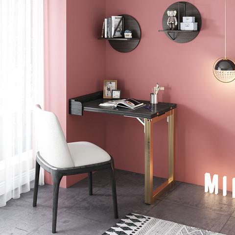折叠书桌双人写字桌卧室轻奢小户型省空间壁挂式餐桌多功能可伸缩