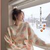 Bejirog 北极绒 KI57I2N1JKU13 女士草莓圆领慵懒毛衣