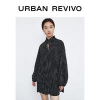UR2020冬季新品女装时尚简约波点宽松连衣裙YU36S7BE2000