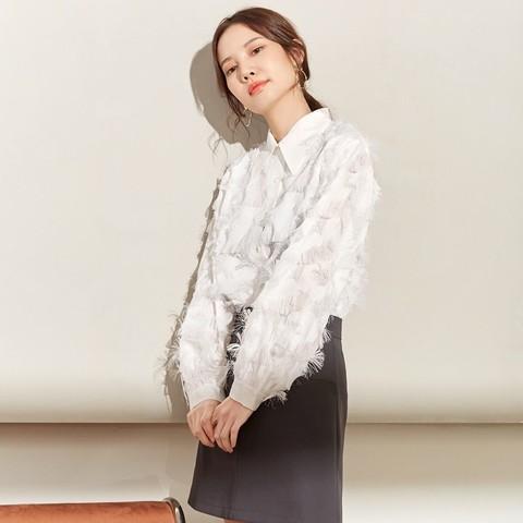 气质优雅时尚流苏须须淑女雪纺衬衫女