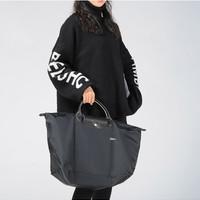 Longchamp 瓏驤 女士LE PLIAGE系列織物大號短柄可折疊旅行袋手提包 1624 619