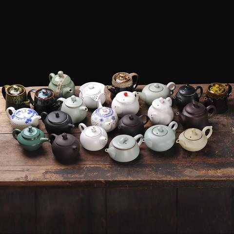 厨什汇 陶瓷茶壶 随机发货