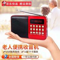 破冰者 调频收音机数字音频播放器插卡迷你老人便携62
