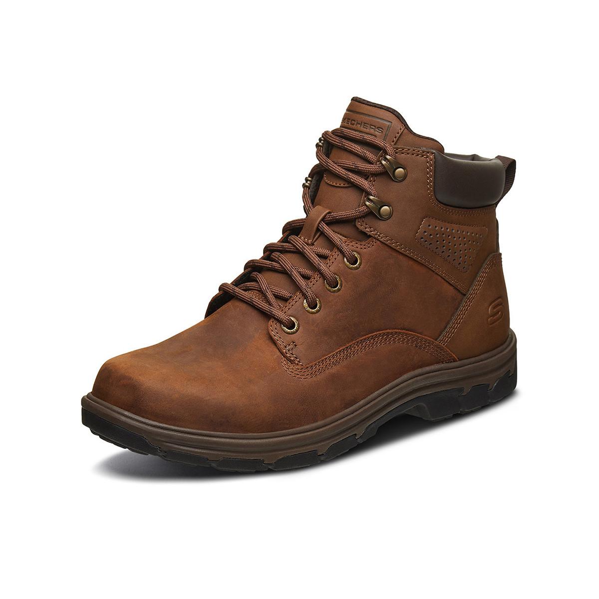 SKECHERS 斯凯奇 66156-CDB 男士中高帮工装靴