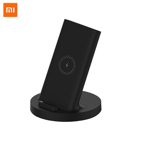 小米(MI)立式无线充电器快充手机支架原装20W专用苹果安卓华为通用头黑色