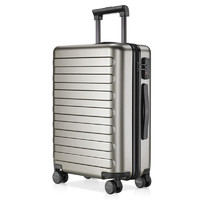 小米(MI)90分拉杆箱28英寸 七道杠旅行箱男女士商务登机箱万向轮静音行李箱 宁静灰 28英寸