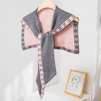 韩国针织小披肩袖子搭肩假领子百搭护颈椎系带打结围巾空调室坎肩