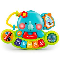汇乐玩具 597 益智玩具小萌象探索琴 宝宝新生儿手指训练电子琴 男女孩儿童音乐玩具元宵礼物0-3岁 *4件