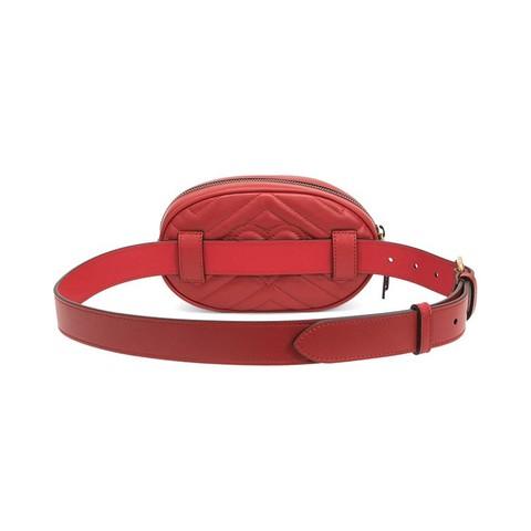 GUCCI/古驰 女士MARMONT系列牛皮腰包 476434红色