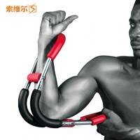 可调节多功能臂力器电镀弹簧臂力棒练胸肌健身器材四根精钢弹簧腕力器
