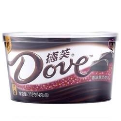 再降价:Dove 德芙 香浓黑巧克力 252g