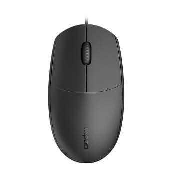 RAPOO 雷柏 N1200S 有线鼠标 1000DPI 黑色