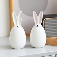 木子西年 兔子陶瓷擺件 腮紅款+白色款 2個裝 *3件
