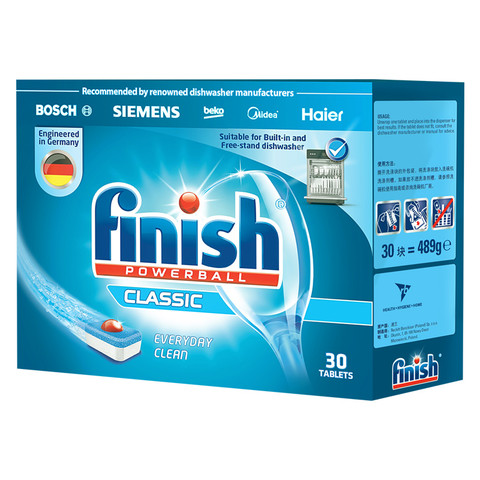 finish 亮碟 洗碗机专用洗碗块 489g