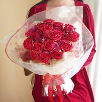 京东PLUS会员: I'M HUA HUA 21朵红色玫瑰花花束礼盒