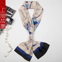 上海故事新品 韩版丝巾女百搭时尚气质飘带小领巾