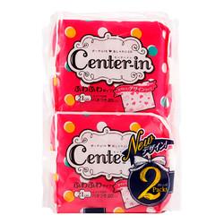 尤妮佳CENTER-IN贴身丝薄透气日用卫生巾21cm*20片x2 *4件