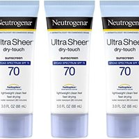 Neutrogena Ultra Sheer Dry-Touch Sunscreen, Broad Spectrum Spf 70, 3 Oz.