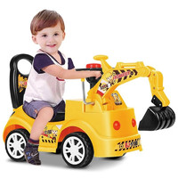 七彩阳光  可坐可骑挖土机玩具 中号滑行款(3个电池可指定颜色)
