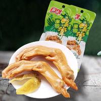 春江 泡椒鸭爪10个400g散装称重平均每个40g大鸭掌零食小吃鸭脚