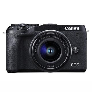 Canon 佳能  EOS M6 Mark II APS-C画幅 微单相机 黑色 EF-M 15-45mm F3.5 IS STM 变焦镜头 单头套机