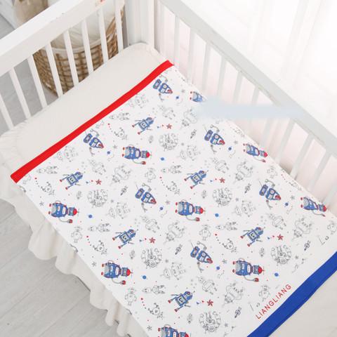 良良 婴儿纯棉隔尿垫防水可洗 新生儿宝宝加大床垫尿垫夏天透气