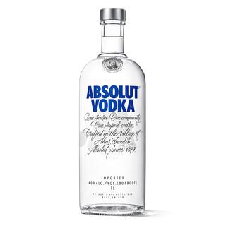 有券的上 : ABSOLUT VODKA 绝对伏特加 洋酒 原味 40度 1000ml
