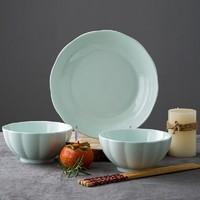 尚行知是 中式釉下彩 南瓜系列餐具 2碗1盘2筷