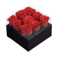 别漾花 礼遇鲜花花盒 红丝绒玫瑰 经典方盒