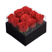 別漾花 禮遇鮮花花盒 紅絲絨玫瑰 經典方盒