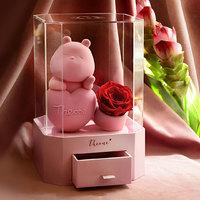 唯忆 心有所属告白玫瑰熊永生花盒