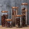 密封罐玻璃带盖大号陈皮食品级茶叶瓶子透明咖啡罐杂粮储物罐糖罐