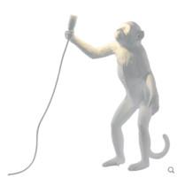 SELETTI 瑟雷提 14881 創意猴子裝飾壁燈 站立款 白色