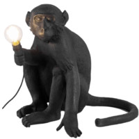 SELETTI 瑟雷提 14881 創意猴子裝飾壁燈 坐立款 黑色