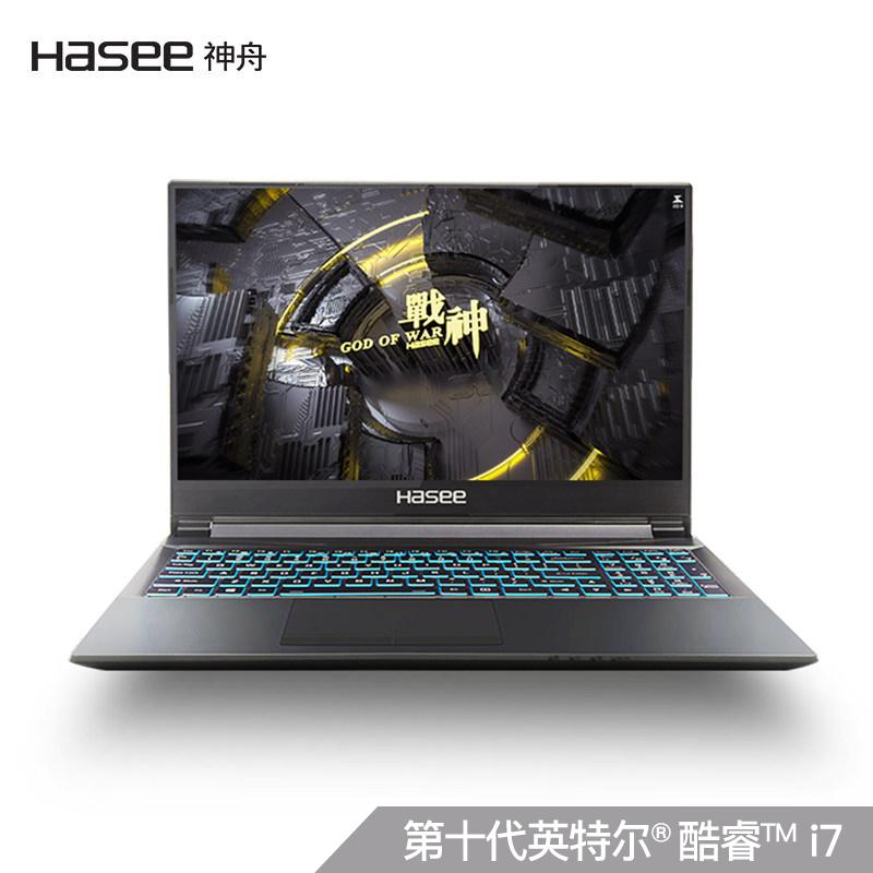 Hasee 神舟 战神 K670T-G4A2 15.6英寸笔记本电脑(G6400、8GB、512GB SSD、MX350)