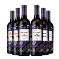 Casillero del Diablo 红魔鬼 智利红魔鬼尊龙梅洛红酒干露葡萄酒原瓶进口红酒整箱 750ml