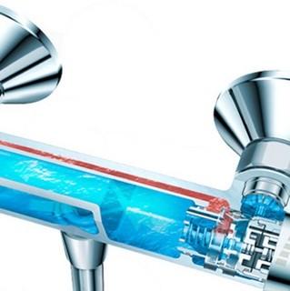 Hansgrohe 汉斯格雅 飞雨系列 26521407+15348007+27611007 恒温下出水浴缸龙头套装