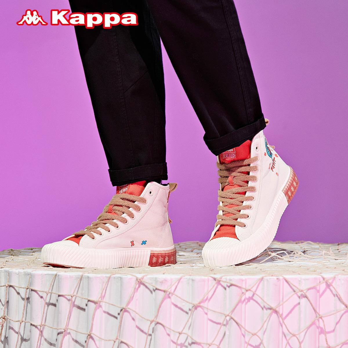 Kappa 卡帕 海贼王联名 KPCBGVS54C 情侣款串标高帮板鞋