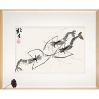 荣宝斋 装饰画 国画 齐白石木版水印《白石墨妙.虾》