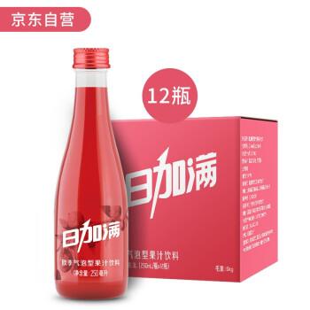 日加满 欧李气泡型果汁饮料 250ml*12瓶 *4件