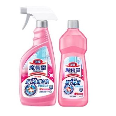 Kao 花王 浴室清洁剂 玫瑰花香 500ml*2瓶装 *2件