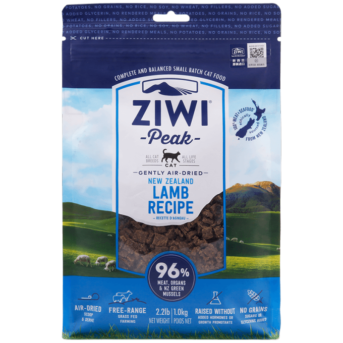 ZIWI 滋益巅峰 无谷风干羊肉猫粮 1kg