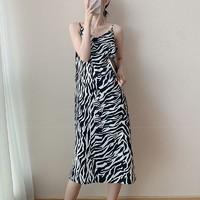 飘莉芬 豹纹吊带连衣裙 M-6XL