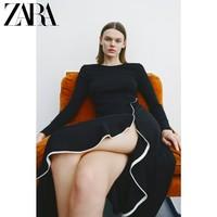 ZARA 新款 荷叶边中长版连衣裙 01198032800