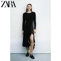 ZARA 01198032800 荷叶边中长版连衣裙